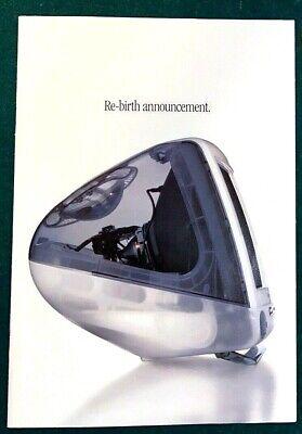 Apple Mac iMac 1999 Magazine Ad Booklet Re-Birth Announcement Computer + Bonus