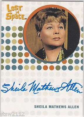 THE COMPLETE LOST IN SPACE SHEILA MATTHEWS ALLEN RUTH TEMPLETON AUTOGRAPH