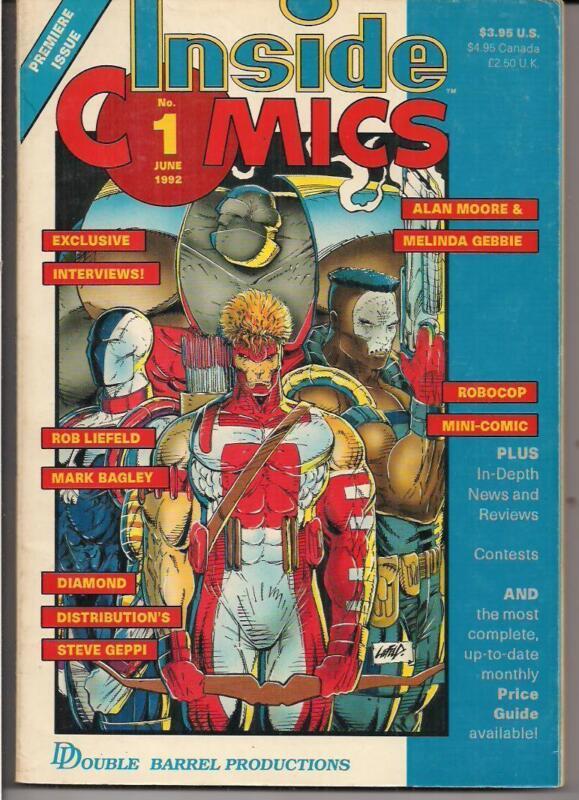 INSIDE COMICS ~ #1 JUNE 1982 ALAN MOORE & MELINDA GEBBIE ~ ROB LIEFELD M. BAGLEY