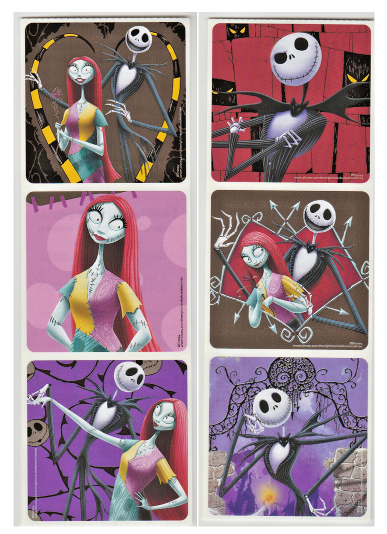 "25 Nightmare Before Christmas Stickers, 2.5"" x 2.5"" each, Pa"
