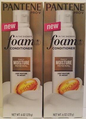 Pro Moisture - 2 Pantene Pro-V  Foam Conditioner,  Daily Moisture Renewal - 6 oz each