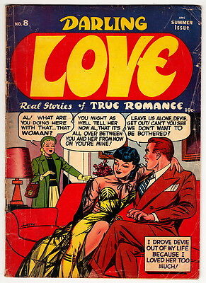 DARLING LOVE Comics #8 scarce pre-code ROMANCE Close-Up/Archie GGA cover nr
