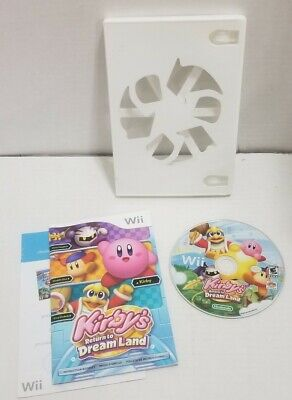 Kirby's Return to Dream Land (Nintendo Wii, 2011) No Art Cover w/Manual TESTED