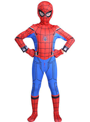 Spiderman Bodysuit Costume For Boys, Spider man Clothes For Kids.Front Zipper