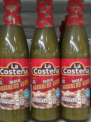 Green Habanero Sauce - LA COSTENA SALSA CHILE HABANERO VERDE GREEN HABANERO SAUCE -3 FRASCOS 145ml c/u