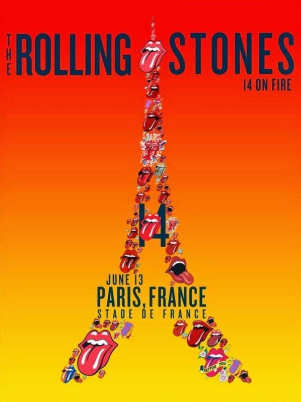 Rolling Stones - 2014 official poster Paris France