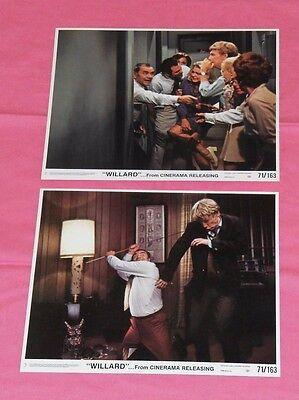 original 1971 WILLARD PRESS PHOTO or MINI LOBBY CARD LOT x2