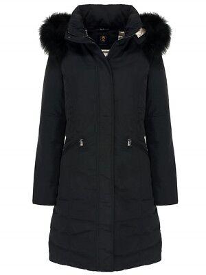 Parka Woman CIESSE Melanie CGW239 Coat Hood Fur Black New