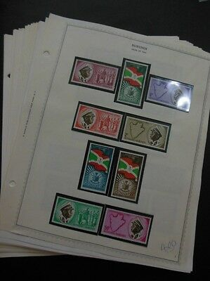 EDW1949SELL : BURUNDI Beautiful all VF MNH collection on pages 1962-67. Cat $571