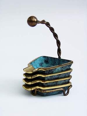 50er Jahre Stapelascher Set - Bronze