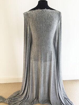 Black/ Grey Marl Poly/Viscose/lycra Slinky Sweater Knit Jersey Fabric --1.5/3mts
