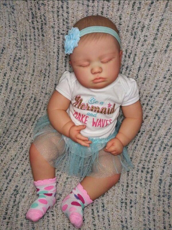 "Realborn Reborn Baby June 7 month Asleep 25"" ~ Custom Order ~"