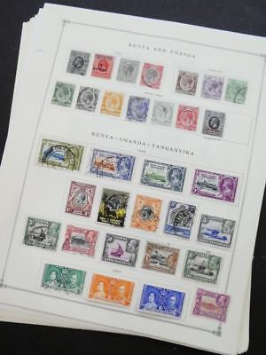 Edw1949sell   Kenya U   T Very Clean Mint   Used Collection On Pages  Cat  523