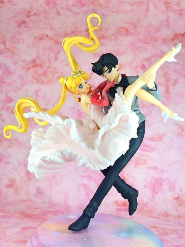 Usagi Princess & Tuxedo Mask Sailor Moon 1/8 Unpainted Figure Model Resin Kit
