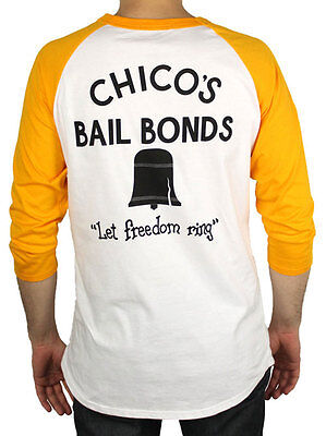 Chico's Bail Bonds Shirt seen in the Bad News Bears-3/4 length sleeve baseball