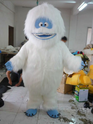 Yeti Abominable Snowman Mascot Costume Halloween Party Cosplay Adult Size Outift (Abominable Snowman Adult Costume)