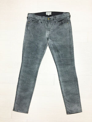 [Current Elliot] Ankle Skinny Jeans Mesh Print Denim Sz 28 / New Without Tag