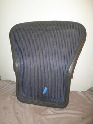 Herman Miller Aeron Size B Back Rest With Dark Gray Frame And Blue Mesh