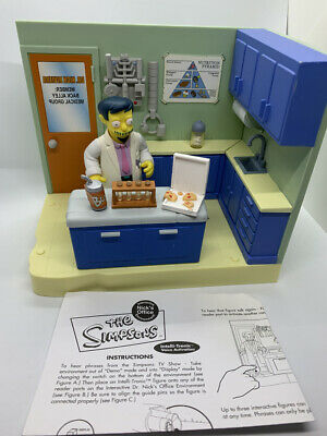 SIMPSONS Playmates DOCTOR DR NICK OFFICE playset loose instructions accessories