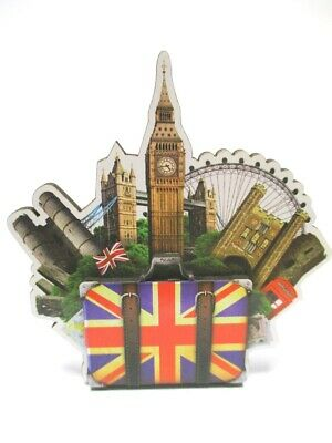 London Wood 2D Magnet Big ben Tower Eye Souvenir Great Britain, New