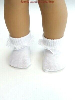 White Lace Trim Socks 18