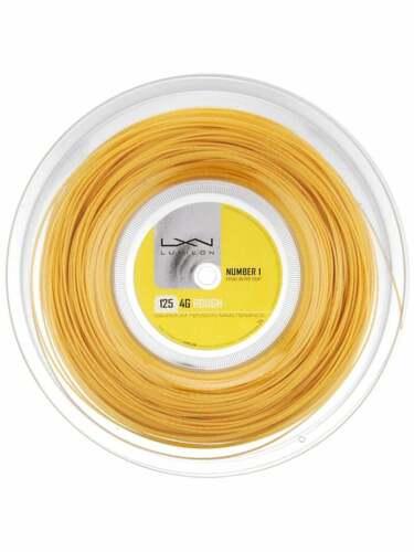 Luxilon 4G Rough 125MM/16L Reel Tennis String - 660ft / 200m NEW