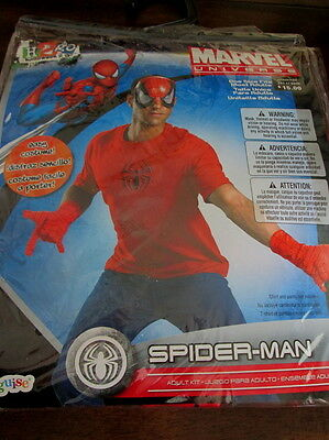 Easy Adult SPIDER-MAN COSTUME KIT Mask Gloves Chest Emblem NEW Men Marvel SPIDER](Easy Marvel Costume)