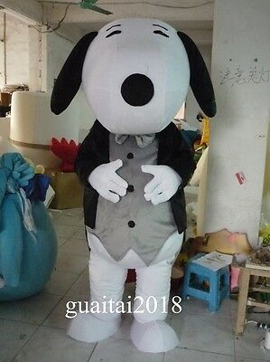 Snoopy Mascot Costume Gentleman Suit Adult Costume Party Fancy Dress Outfit New](Snoopy Mascot Costume)