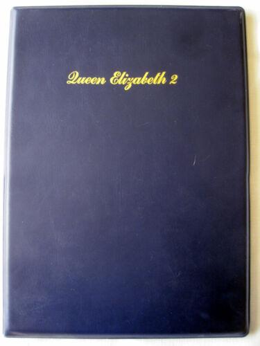 QUEEN ELIZABETH 2 -- Stateroom Folder/Portfolio; Cunard Magazine 1982/1983