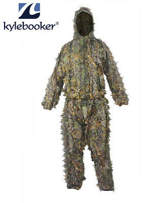2d9b469b11c47 Hunting Ghillie Suit 3D Leaf Camouflage Clothing Set Jungle Camo Sniper  Archery