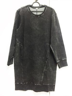 [Helmut Lang] Cotton Sweatshirt Dress Gray Color Sz Large / New without Tag