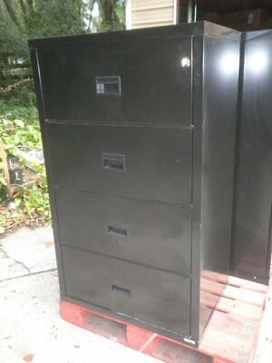 Fireking Fire King Hon Lateral 4 Drawer Fireproof File Filing Cabinet 31w