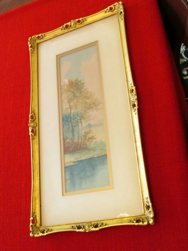Collectible picture Frame tall inticate carved 20x10 old estate find ELEGANT OS