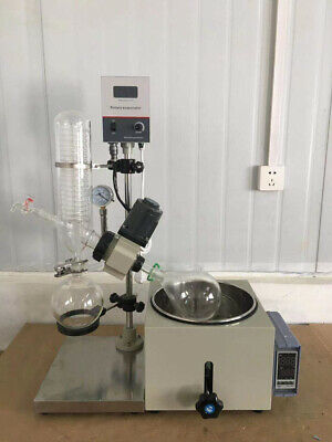 2l Lab Rotary Evaporator Manual Lifting Rotavapor Lab Equipment 110v Glass New
