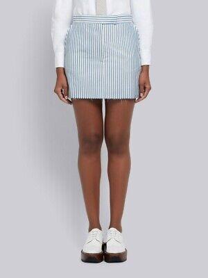 NWT Thom Browne Classic Mini Skirt, SZ.40, Bar Stripe Loom, Wool/Mohair