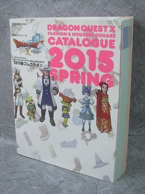 DRAGON QUEST X 10 Fashion & Housing Catalogue 2015 Spring Art Guide Book SE33*
