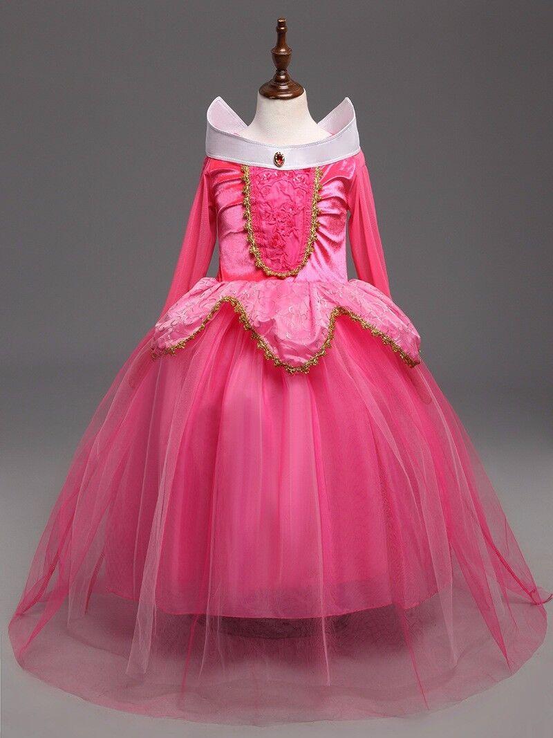 Sleeping Beauty Princess Aurora Party Dress  kids Costume Dress #2  for girls