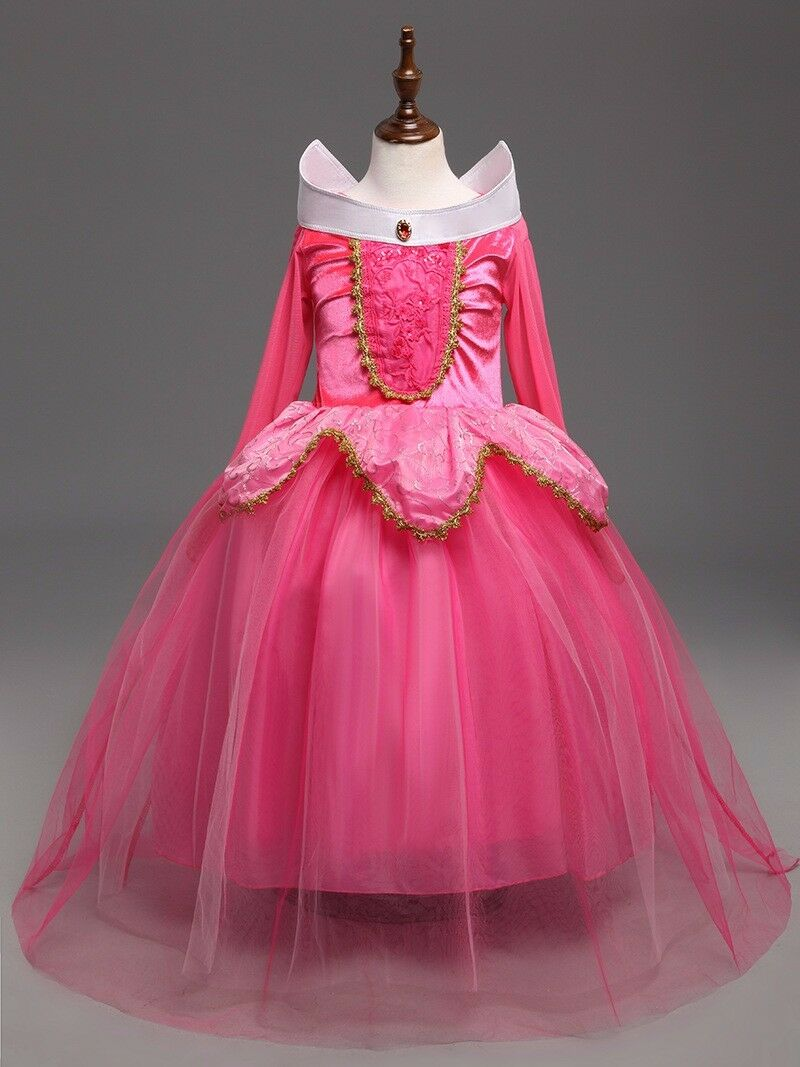 Sleeping Beauty Princess Aurora Party Dress  kids Costume Dress #2  for girls