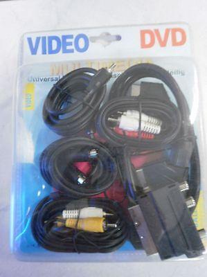 14x Universal Multimedia Anschlussset 7-teilig DVD Video Audio  Sonderposten