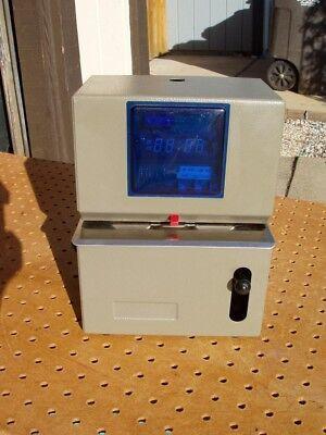 Lathem 2151-dd Digital Time Clock Good Cond Working No Lock No Keys Side Print