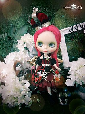 Blythe gothic lolita steam punk Alice in Wonderland Heart Queen red dress outfit](Modern Alice In Wonderland Dress)