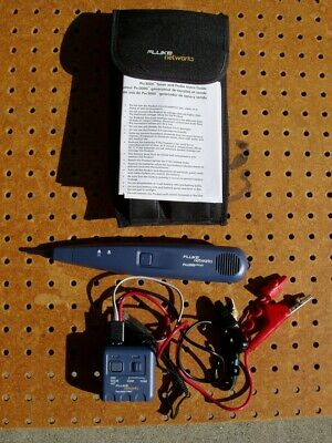 Fluke Networks Pro3000 Analog Tone Generator Probe Kit Excellent Condition
