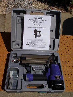 Central Pneumatic Professional Concrete T Nailer 90342 Working Decent Cond