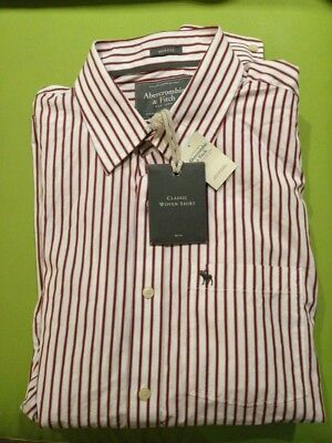 Abercrombie And Fitch Burdeos Blanco Color Y Diseño Camisa -XXG