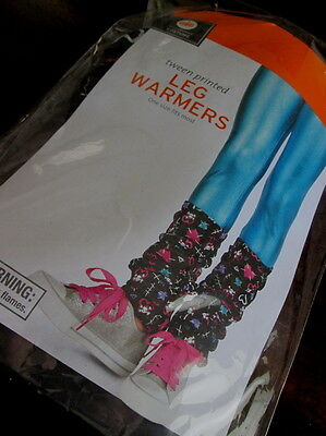 Tween Youth COSTUME LEG WARMERS OS New Skull Crossbones Hearts HALLOWEEN  ](Leg Warmers Target)