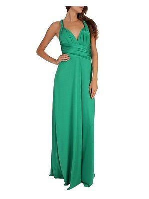 Magic Wrap Kleid ( 25 Way Convertible Maxi Wrap Dress - Magic Dress - Green - S M L - SALE!)