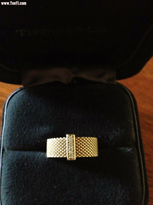 TIFFANY & Co. 18K Gold Somerset Mesh Diamond Ring Melbourne CBD Melbourne City Preview