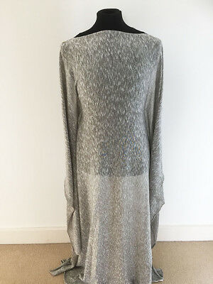 Khaki/Silver Sweater Knit Jacquard Jersey Dressmaking Fabric-1.6 metres