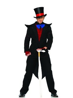 Men's Evil Mad Hatter Costume, Leg Avenue, Halloween Fancy Dress, Book - Evil Mad Hatter Halloween Costume