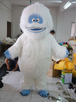 Yeti Abominable Snowman Mascot Costume Suit Adult Dress Fluffy Cosply Party Game (Abominable Snowman Adult Costume)